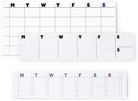 Sticky Weekly Planner Check