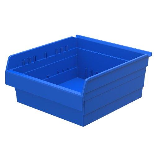 Akro-Mils 30818 ShelfMax 8 Plastic Nesting Shelf Bin Box, 18-Inch x 16-Inch x 8-Inch, Blue, (Akro Mills Container)