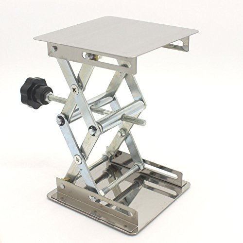 Lift Tables 4 x 4'' Stailess Steel Micro Lift Tables Platforms Scissor Mechanism Lab-lifting