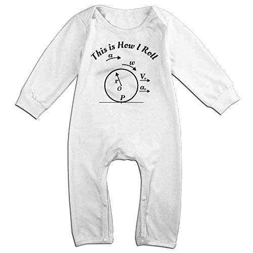 Price comparison product image PMsunglasses This is How I Roll Long Sleeve Baby Romper Bodysuit Outfits Clothes White