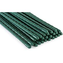 Tingyuan Garden Stakes 36 Inches Steel Plant Stakes, Pack of 25