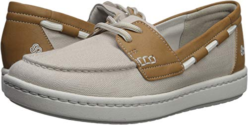 - CLARKS Women's Step Glow Lite Off-White Canvas 11 Wide US