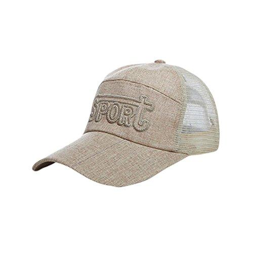 Limsea Women Adjustable Fashion Baseball Hat Letter Embroidery Hip-Hop Mesh Cap Shade - Fur Felt Pork Pie