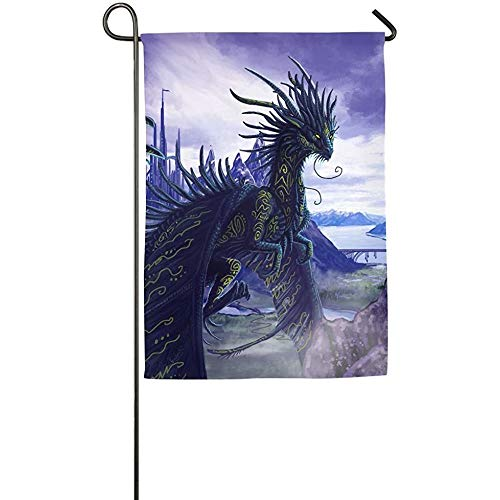 Dongingp Dragon Category Garden Flag Indoor & Outdoor Decorative Flags for Parade Sports Game Family Party Wall Banner -