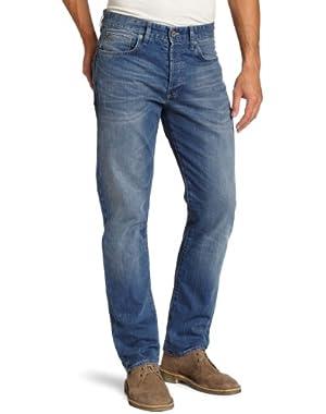 Men's 3301 Straight Leg Snatch Jean in Medium Aged
