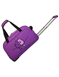 Ed Heck Big Love Birds Wheeled Duffel 20, Purple, One Size