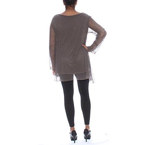 Candy Clothing - Camiseta de manga larga - Floral - para mujer marrón