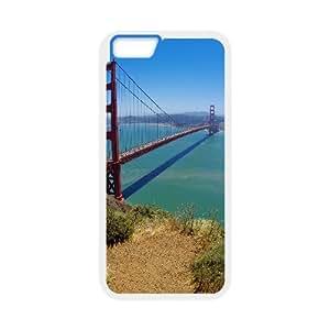 [Funny Series] IPhone 6 Case San Francisco Bridge, Luxury Case for Iphone 6 Case Okaycosama - White