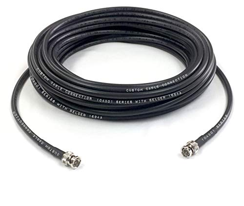 - Custom Cable Connection 250 Foot Belden 1694A 6G HD-SDI RG6 BNC Cable (75 Ohm) Black Jacket