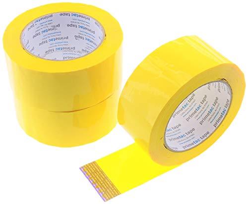 "3pk 2"" Yellow BOPP 110yd 2mil Carton Sealing Tape Shipping Packaging Moving Box Packing Tape 48MM x 100M"