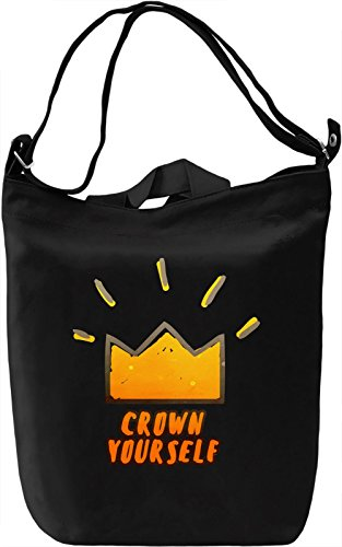 Crown Yourself Borsa Giornaliera Canvas Canvas Day Bag| 100% Premium Cotton Canvas| DTG Printing|