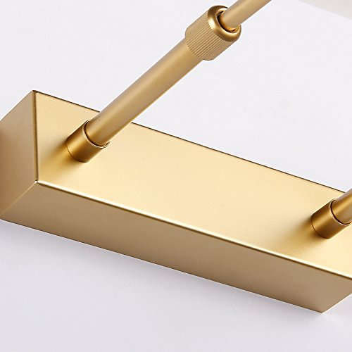 Metal Gold Mirror Front lamp Warm White LED Vanity Bathroom Light - Battaa C1805 (2018 New Design) Simple Make-up Wall Light Wall Sconce Mirror Light Picture Front Lamp
