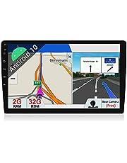 JOYX Android 10.0 dubbele DIN autoradio met GPS-navigatiesysteem, 2G/32G, gratis achteruitrijcamera, 10,1 inch HD-scherm, ondersteunt DAB+ stuurwielbediening, 4G wifi, bluetooth, MirrorLink, Carplay OBD2 USB