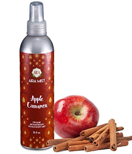 (Aira Mist Apple Cinnamon Organic Room Spray - Essential Oil Spray with Organic Ingredients & Therapeutic Essential Oils - Living Room Spray Free of Alcohol & Parabens - Home Fragrance - 8 Ounces)