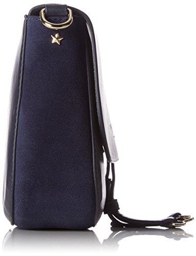 Tommy Hilfiger Effortless Leather Crossover - Bolsos bandolera Mujer Azul (Tommy Navy)