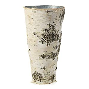 "Rustic Birch Vase - 9"" Birch Flower Vase - Farmhouse Decor - Bark Vase - Rustic Wedding - Wedding Decorations - Rustic Decorations - Party Decorations - Wood Vases 20"