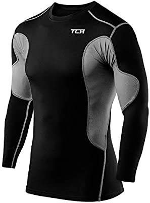 TCA Hombre SuperThermal Camisa Térmica Da Manga Larga con Baselayer Da Compresión - Negro/Gris, L: Amazon.es: Deportes y aire libre