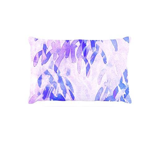 Kess InHouse Iris Lehnhardt Abstract Leaves II  Fleece Dog Bed, 50 by 60 , Brown Tan