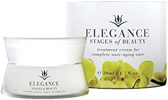 Elegance Treatment Cream with Resveratrol, Anti-Aging Facial Moisturizer, Fight Fine Lines & Wrinkles, Hydrate & Protect Skin, Stages of Beauty, 50mL