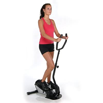 Stamina InMotion Elliptical Trainer with Handle (Black, Chrome)