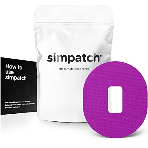 (SIMPATCH Adhesive Patch for Dexcom - Pack of 25 - Multiple Colors Available (Purple))