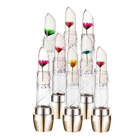 Lipstick Set,Fheaven 6PCS Waterproof Magic Jelly Flower Color Changing Long Lasting Moisturizer Lip Lipstick