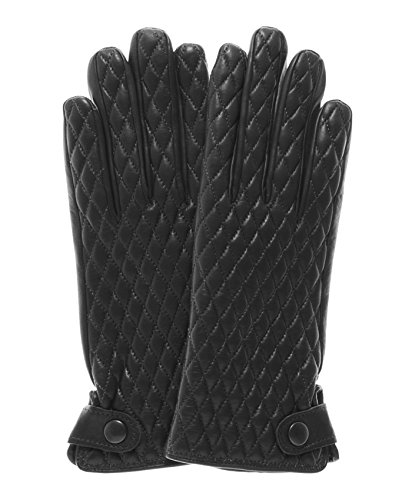 Fratelli Orsini Women's Quilted Leather Gloves With Cashmere Lining Size 7 1/2 Color Black by Fratelli Orsini