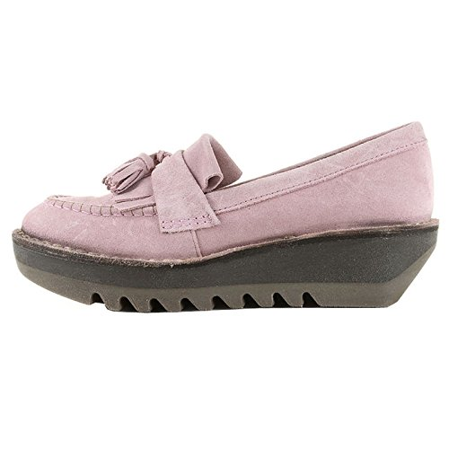 Fly London Womens Juno Suede Shoes Pink