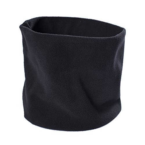 Lupa Kids Canadian-Made 2-Ply Micro Fleece Neck Warmer/Gaiter (Black)