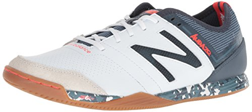 Metal Mens Football Cleat - New Balance Men's Audazo V3 Soccer Shoe, White, 7 D US