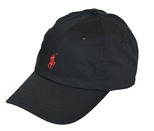 Polo Ralph Lauren Sports Pony Logo Hat Cap (One size, RL Black)