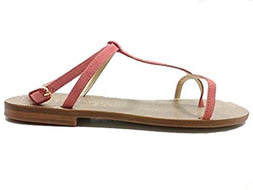 Zapatos Mujer EDDY DANIELE 37 EU Sandalias Rosa Gamuza AW347 / AW348
