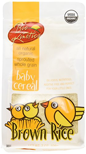 Gluten Free Organic Brown Rice Baby Cereal Made with Sprouted Whole Grain Brown Rice 7 Oz. (198 g) - 2 Pack
