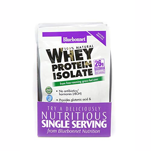 Bluebonnet Nutrition Whey Protein Isolate Powder, Original Flavor, 26 g Packet (8 Count)