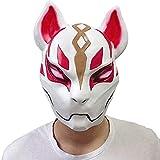 Miminuo Fortnite Fox Mask Cosplay Latex Helmet for Halloween Costume Party (Fox)