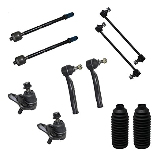 - 10-Piece Front Suspension Kit - (2) Front Lower Suspension Ball Joints, (2) Front Stabilizer Sway Bar End Links, All (4) Front Inner & Outer Tie Rod End Links [NOT FOR JAPAN MADE MODELS]