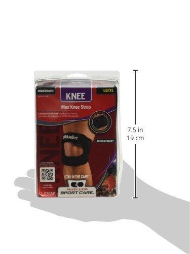 Mueller Maximum Strength Knee Support,Large/X-Large,Black