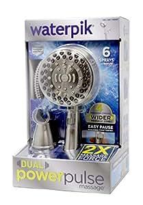Waterpik Dual Power Pulse Massage Shower Head (Brushed
