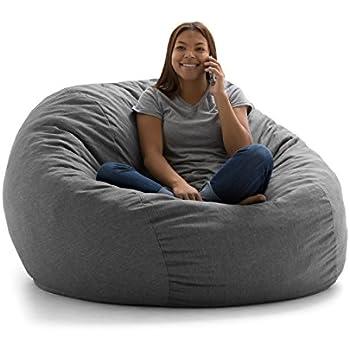 Amazon Com Big Joe Lux Large Fuf Foam Filled Bean Bag
