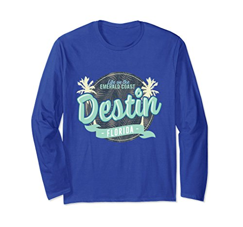 Unisex Life on The Emerald Coast Destin, Florida Beach T-Shirt Large Royal - Sand Destin