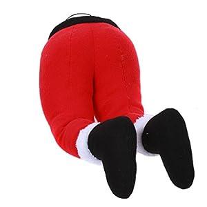 "Santa Hanging Legs Decor, 20"" Long."