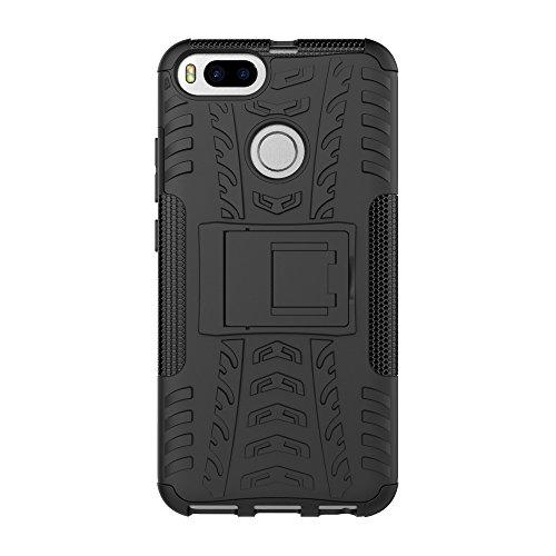 CarcasaXiaomi Mi 5X, LifeePro Funda de la Caja del Teléfono a Prueba de Golpes TPU + PC Armadura Combinada híbrida Caso de Alto Impacto Durable Phone Defender (Rosa Caliente) Verde