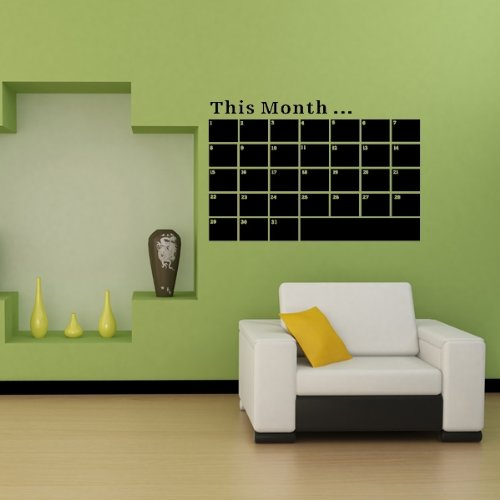 VivReal® Monthly Planner Calendar Blackboard Removable Wall