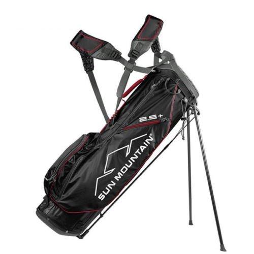 空虚敏感な組サンマウンテン 2.5+ スタンド キャディバッグ ブラック×レッド×ガンメタル SUN MOUNTAIN ゴルフバッグ ツーファイブ プラス
