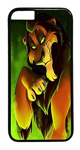 Price comparison product image iPhone 6 Case, 6 Case - Scratch Resistant Black Hard Case Cover for iPhone 6 the lion king scar Absorption Hard Back Case Bumper for iPhone 6 4.7 Inches