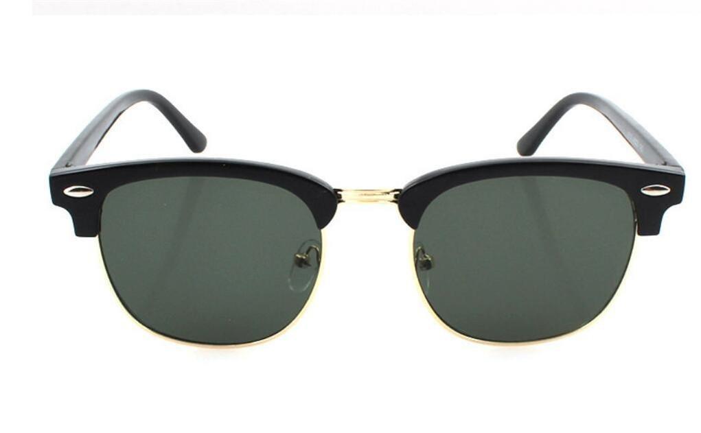 WANGMIN® Sonnenbrille Neue Art Und Weise Quadratischer Mann Und Frauen Retro Marken-Entwerfer-Sonne-Gläser Für Frauen Flache Oberseite Übergroße Sonnenbrille Uv400 , A
