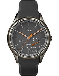 Timex Men's TW2P95000L3 Sport IQ+ Move Orange Hands with Grey Silicone Strap Watch