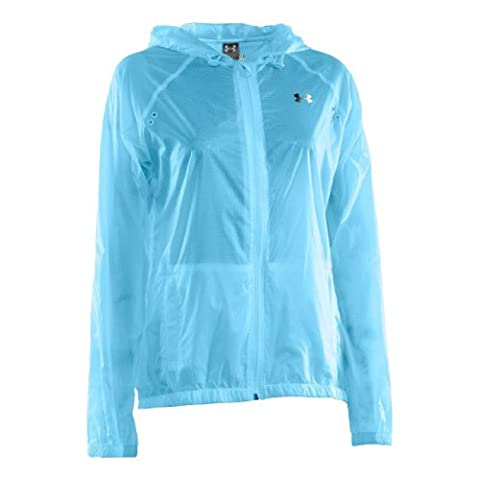 Mens Under Armour See Me Go Translucent Jacket, Deceit/Reflective/Bright Blue , MD - 439 Sheer