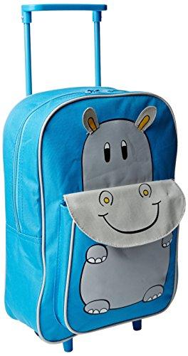 Karabar Tierwelt Freunde Kinder Trolley-Tasche (Blau Hippo)