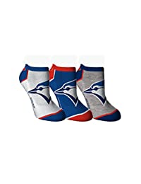 Toronto Blue Jays Women's 3-Pack Ankle Socks
